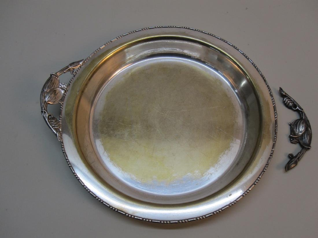 4 ASSORTED SILVER PLATED SERVING TRAYS - 8