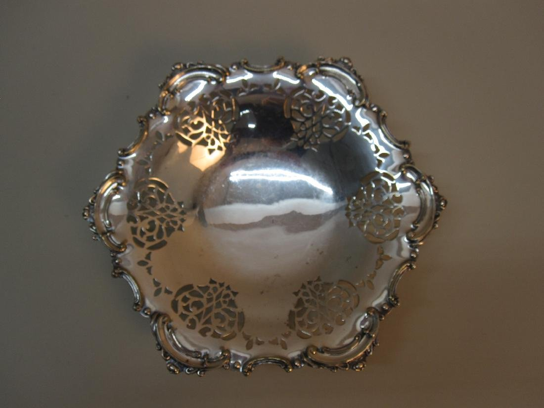 SILVER PLATED FOOTED COMPOTE - 2