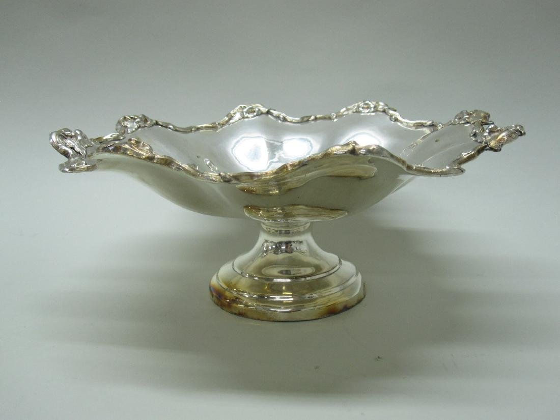 SILVER PLATED FOOTED COMPOTE - 6