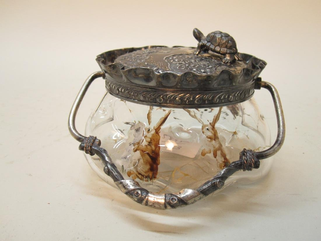 SILVER PLATED SWEETMEAT COVERED JAR - 3