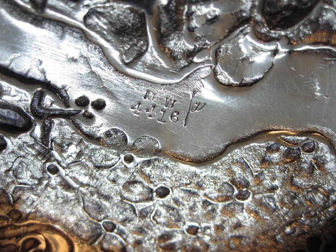 SILVER PLATED SWEETMEAT COVERED JAR - 4
