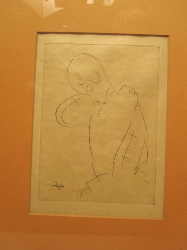 A. MODIGLIANI PRINT OF FEMALE FIGURE