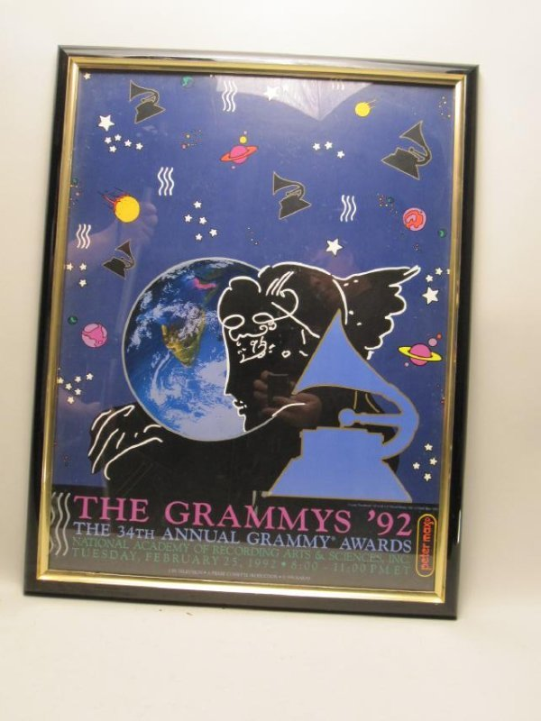 PETER MAX 1992 GRAMMY POSTER