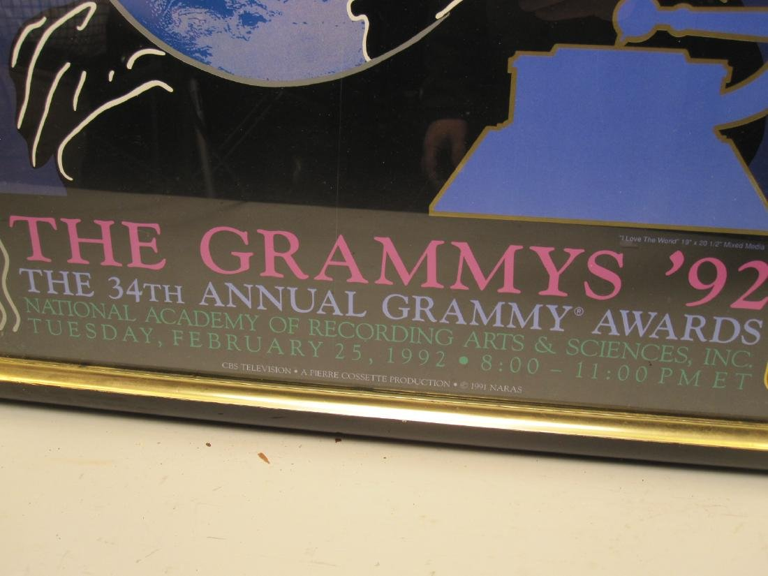 PETER MAX 1992 GRAMMY POSTER - 2