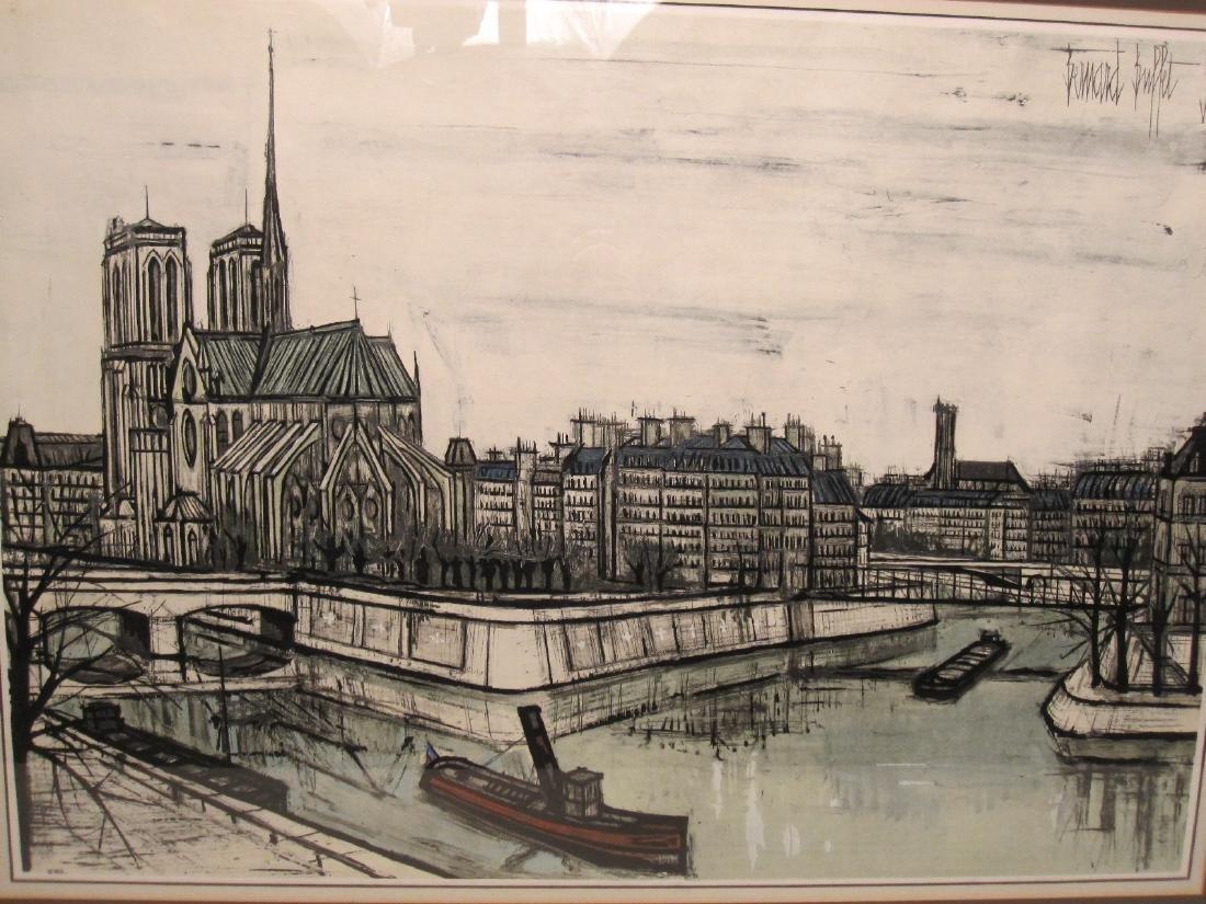 BERNARD BUFFET PRINT OF FRENCH CANAL