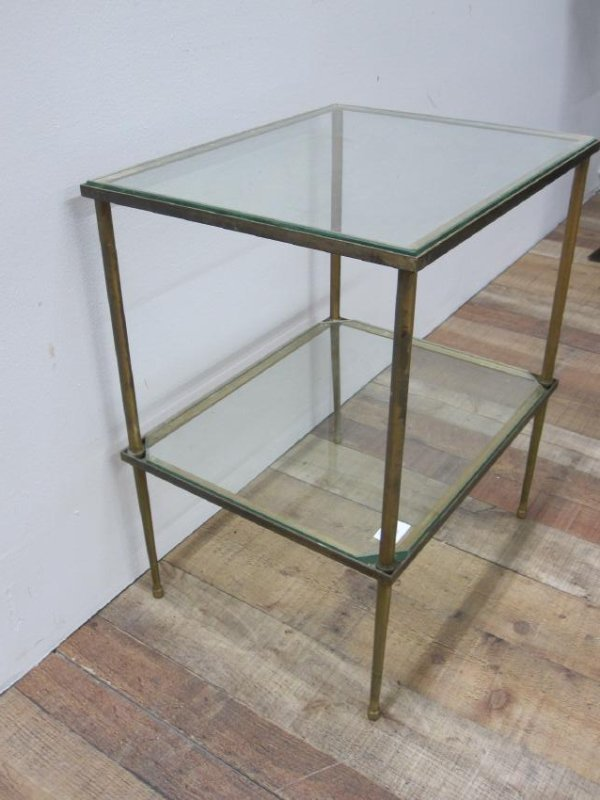 BRONZE TWO TIER OCCASIONAL TABLE - 2