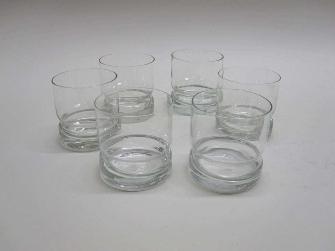 SET OF SIX SVEND JENSEN GLASS TUMBLERS