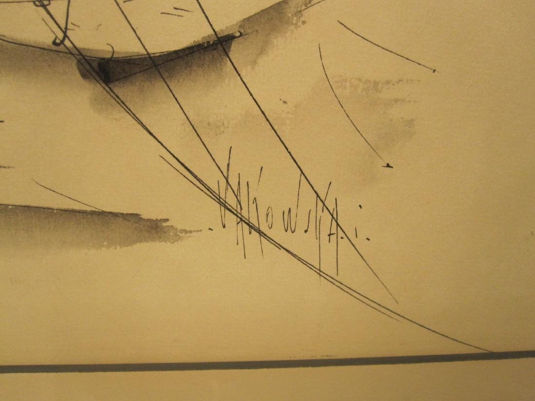 INK ON PAPER DRAWING OF SAILBOATS - 2