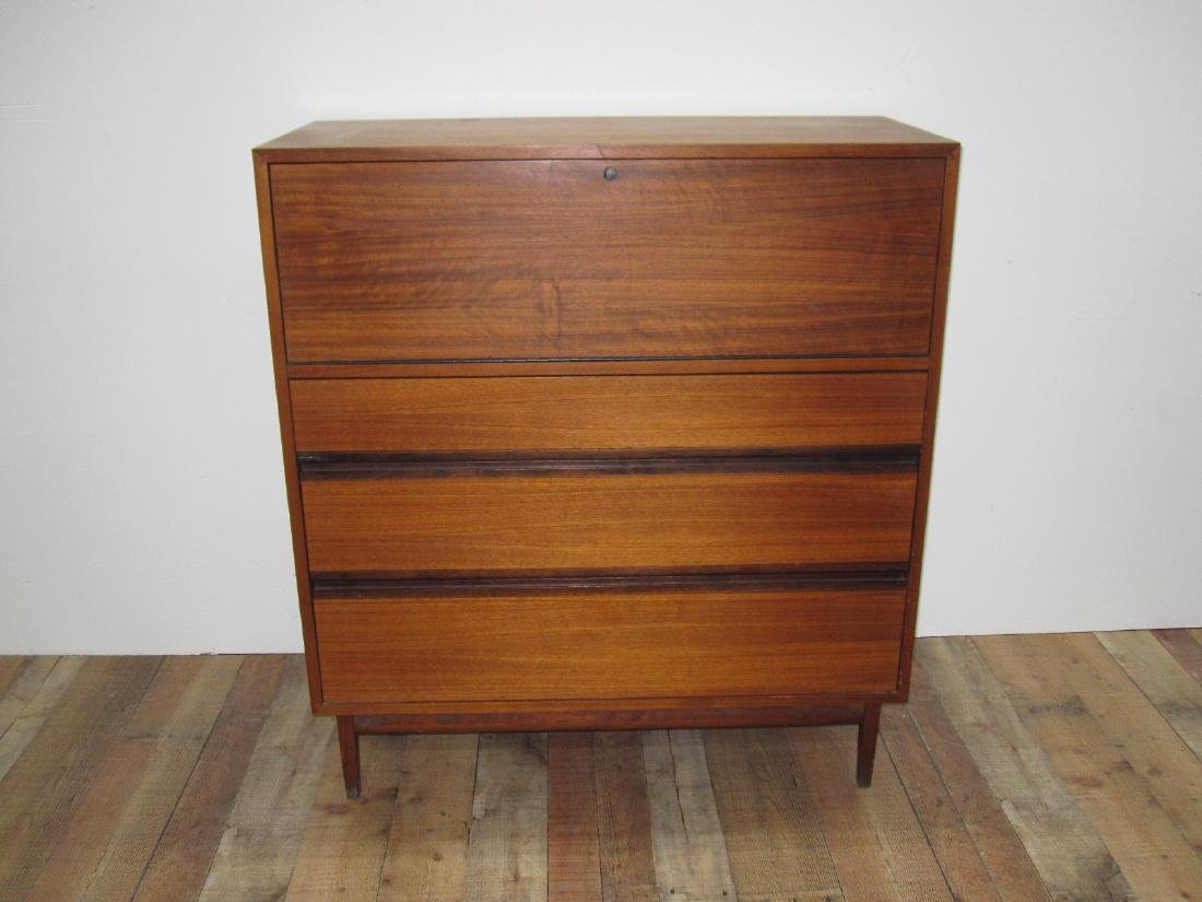 MID CENTURY FALL FRONT DRESSER