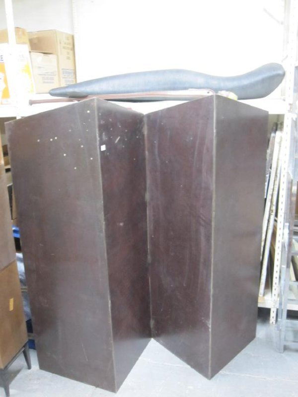 CONTEMPORARY STEEL TWO PANEL SCREEN