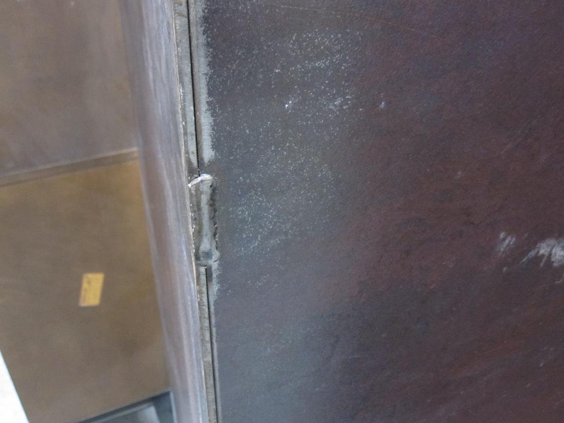 CONTEMPORARY STEEL TWO PANEL SCREEN - 4