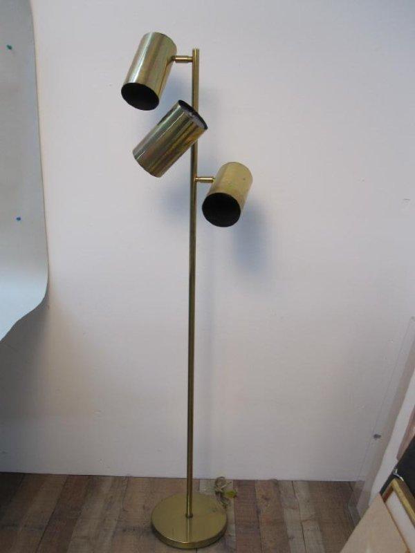 KOCH + LOWY BRASS THREE LIGHT FLOOR LAMP