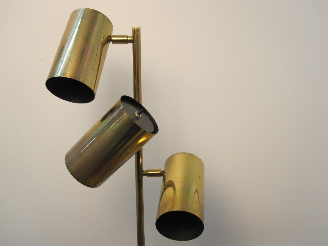 KOCH + LOWY BRASS THREE LIGHT FLOOR LAMP - 3
