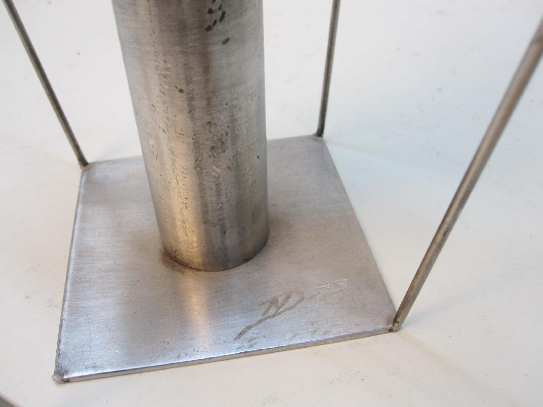 MODERN STAINLESS STEEL TABLE ART - 5