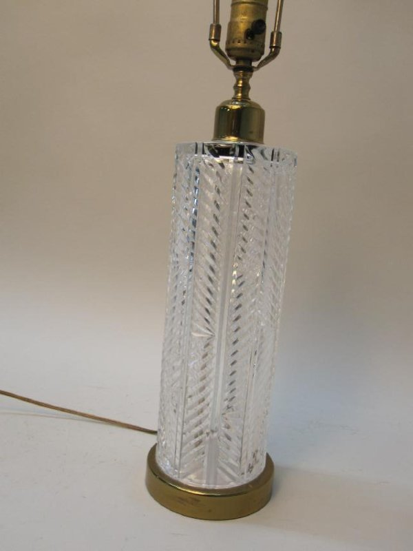 MODERN BRASS AND GLASS TABLE LAMP - 3