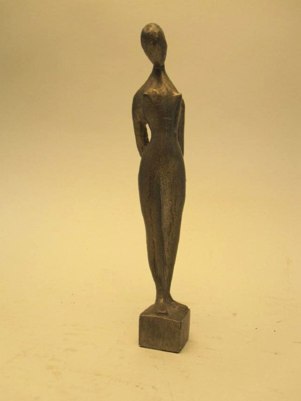 MODERN PEWTER FIGURE OF NUDE