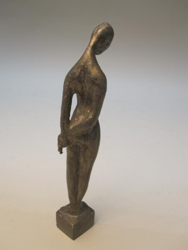 MODERN PEWTER FIGURE OF NUDE - 2