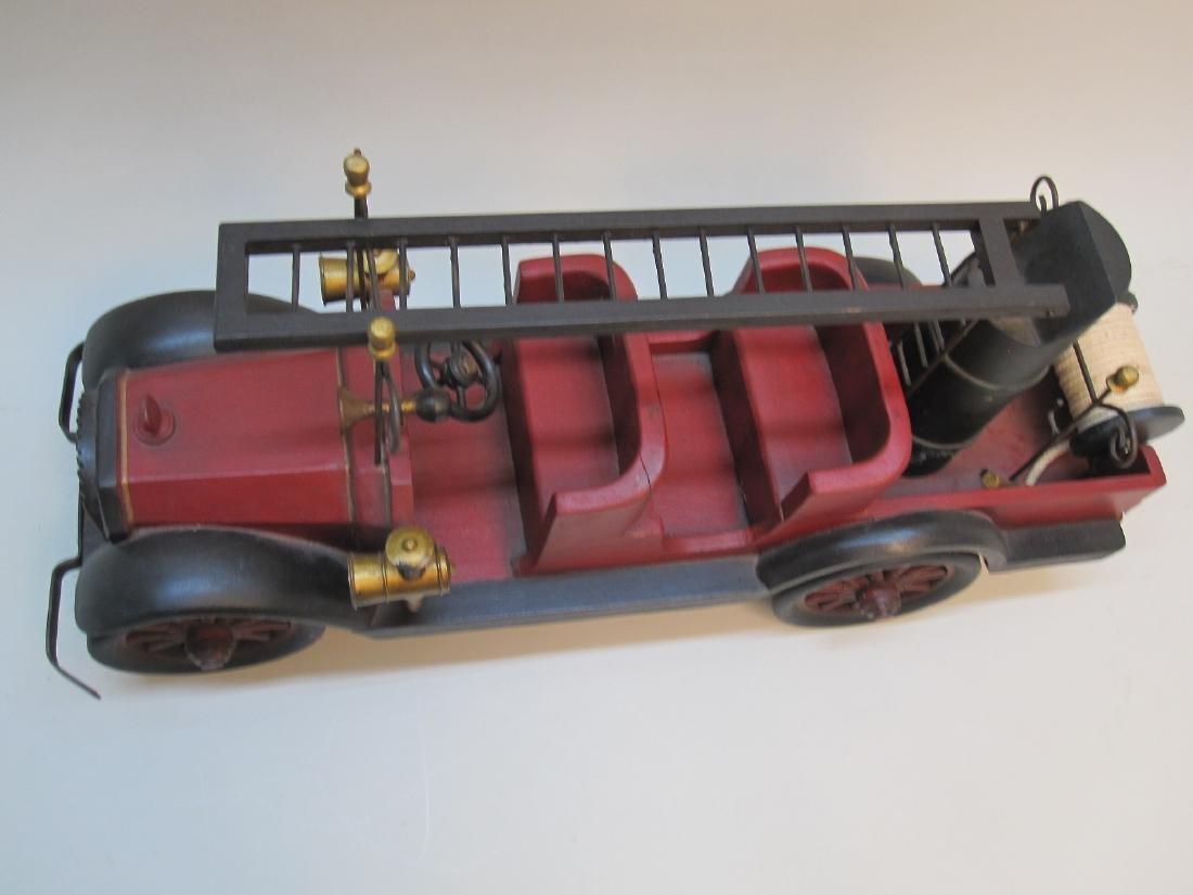 WOODEN FIRE TRUCK - 2