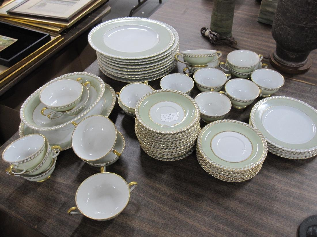 PARTIAL FRANCONIA PATTERN DINNERWARE SERVICE