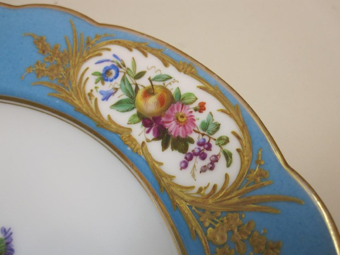 TEN BLUE GILT AND FLORAL DECORATED BOWLS - 2