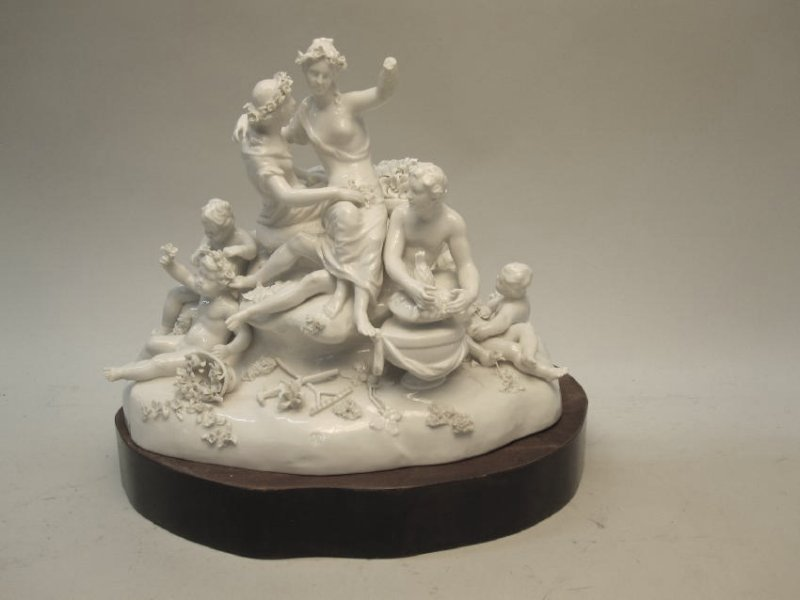 NYMPHENBERG PORCELAIN FIGURAL GROUP