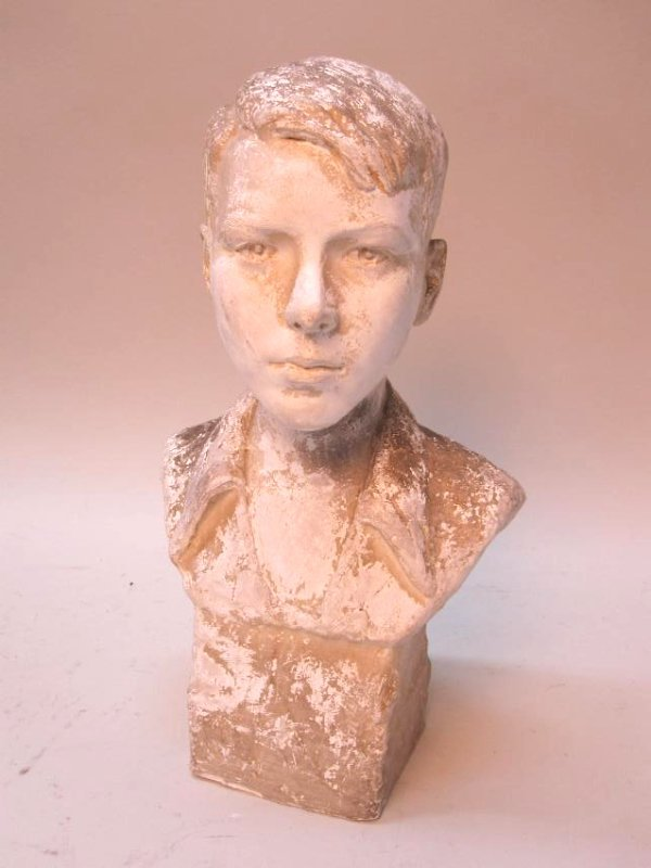 COMPOSITION BUST OF YOUNG BOY