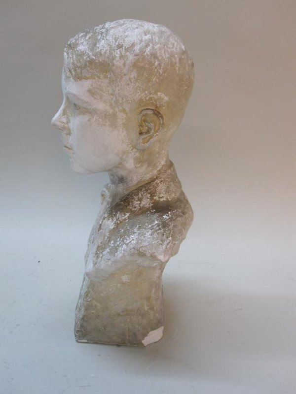 COMPOSITION BUST OF YOUNG BOY - 2