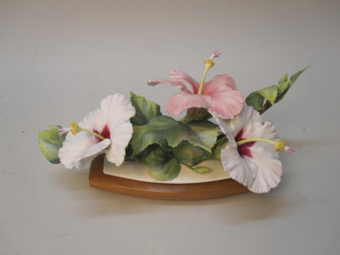 """ROYAL WORCESTER """"HIBISCUS"""" FIGURAL GROUP"""