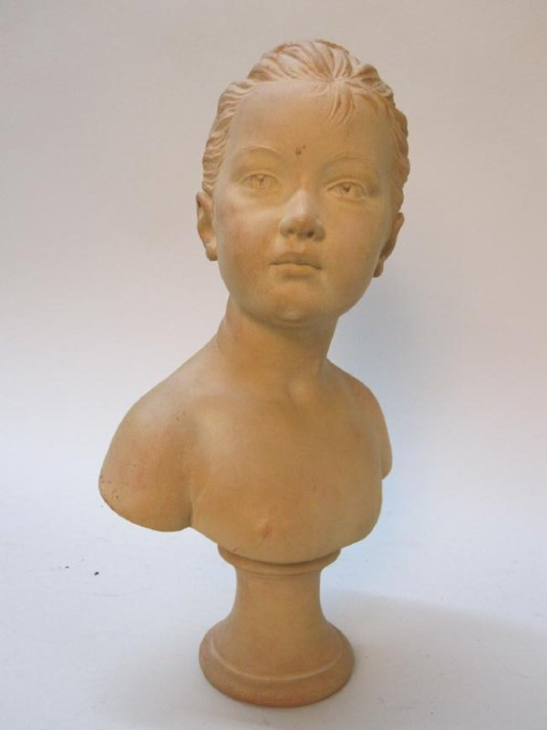 TERRACOTTA BUST OF YOUNG GIRL