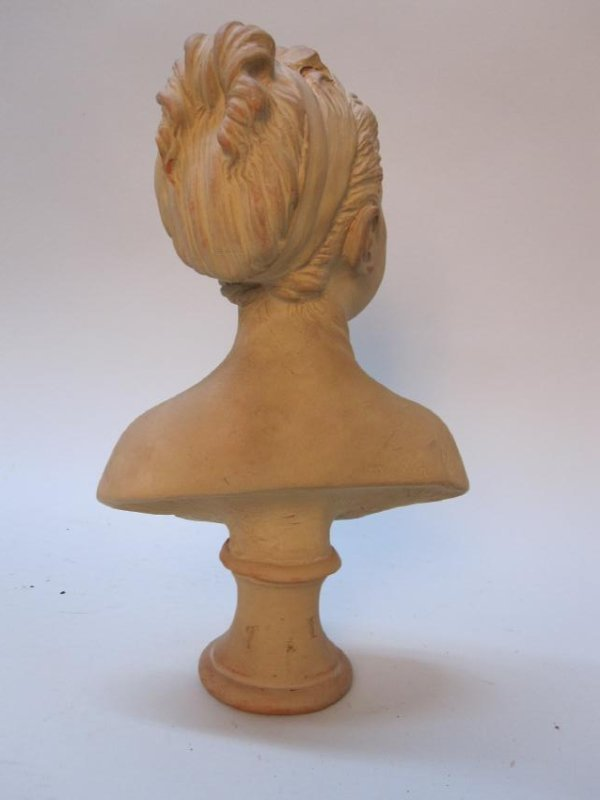 TERRACOTTA BUST OF YOUNG GIRL - 2