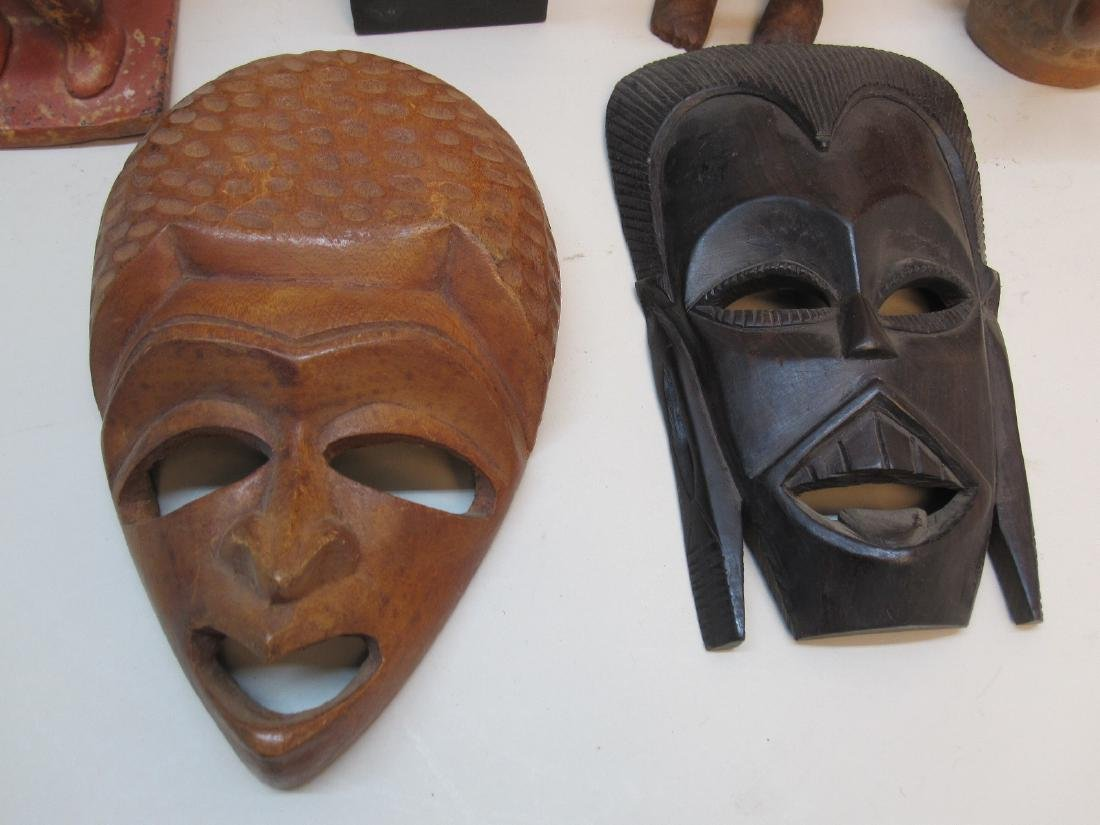 GROUP OF MEXICAN AND AFRICAN CARVINGS - 2