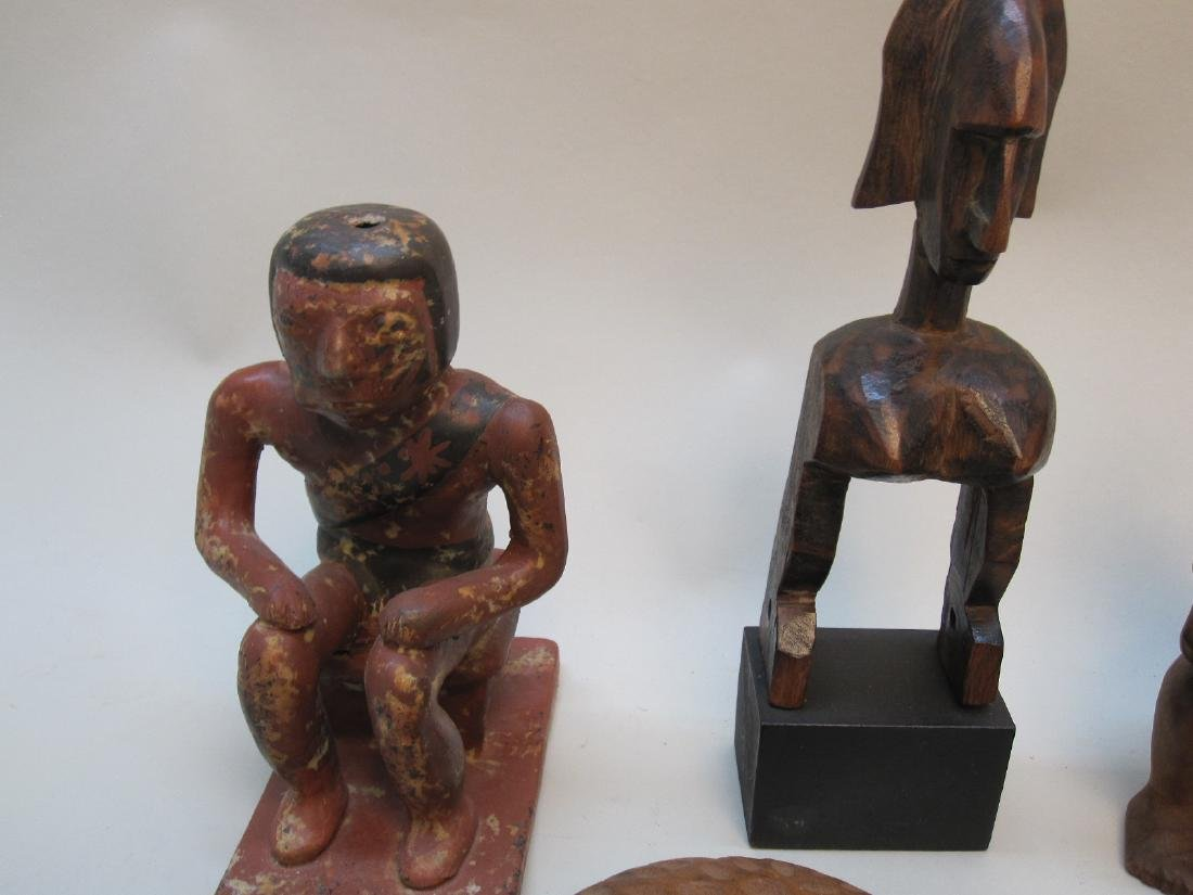 GROUP OF MEXICAN AND AFRICAN CARVINGS - 4