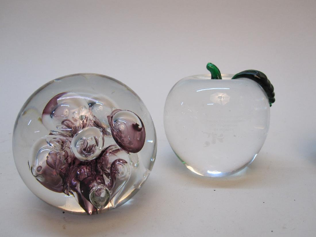 GROUP OF 4 ASSORTED GLASS PAPERWEIGHTS - 2