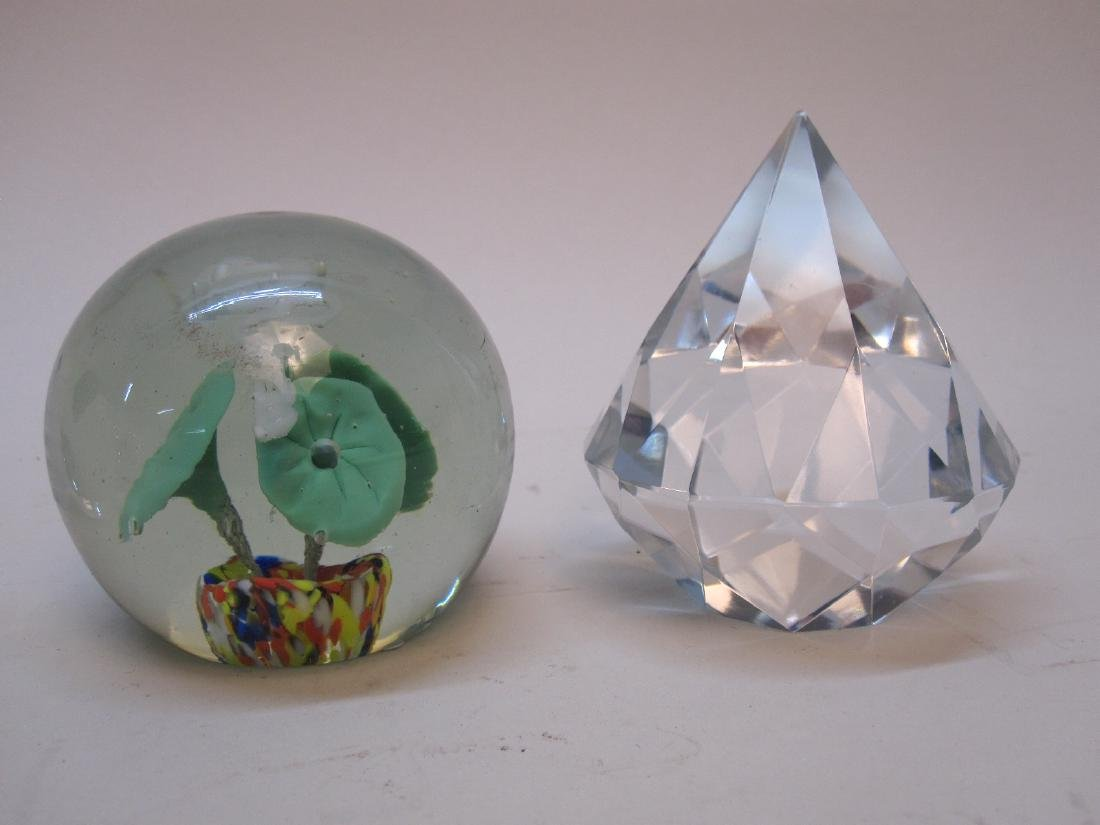GROUP OF 4 ASSORTED GLASS PAPERWEIGHTS - 3