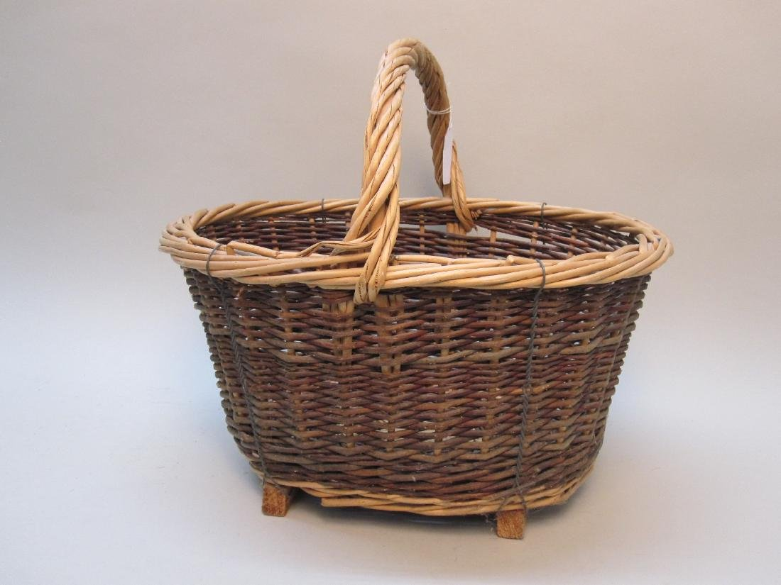 FRENCH 19TH CENTURY HANDLED BASKET