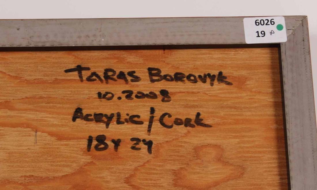 ACRYLIC ON CORK, ABSTRACT, TARA BOROVYK - 7