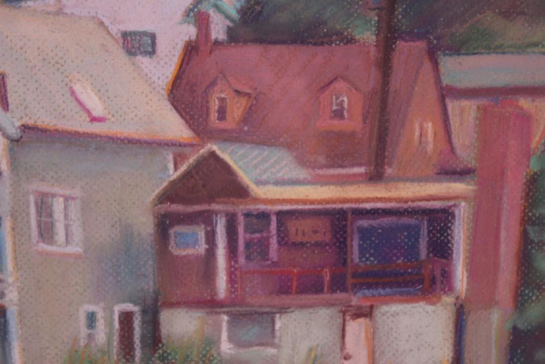 PASTEL, HOUSES ON POND, ALDEN BAKER - 5