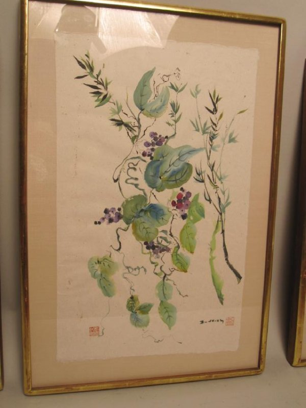 SET OF FOUR MIXED MEDIA SIGNED WILKINS - 3