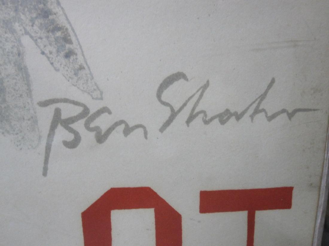 "BEN SHAHN POSTER "" ALTELIER MOURLOT"" - 2"