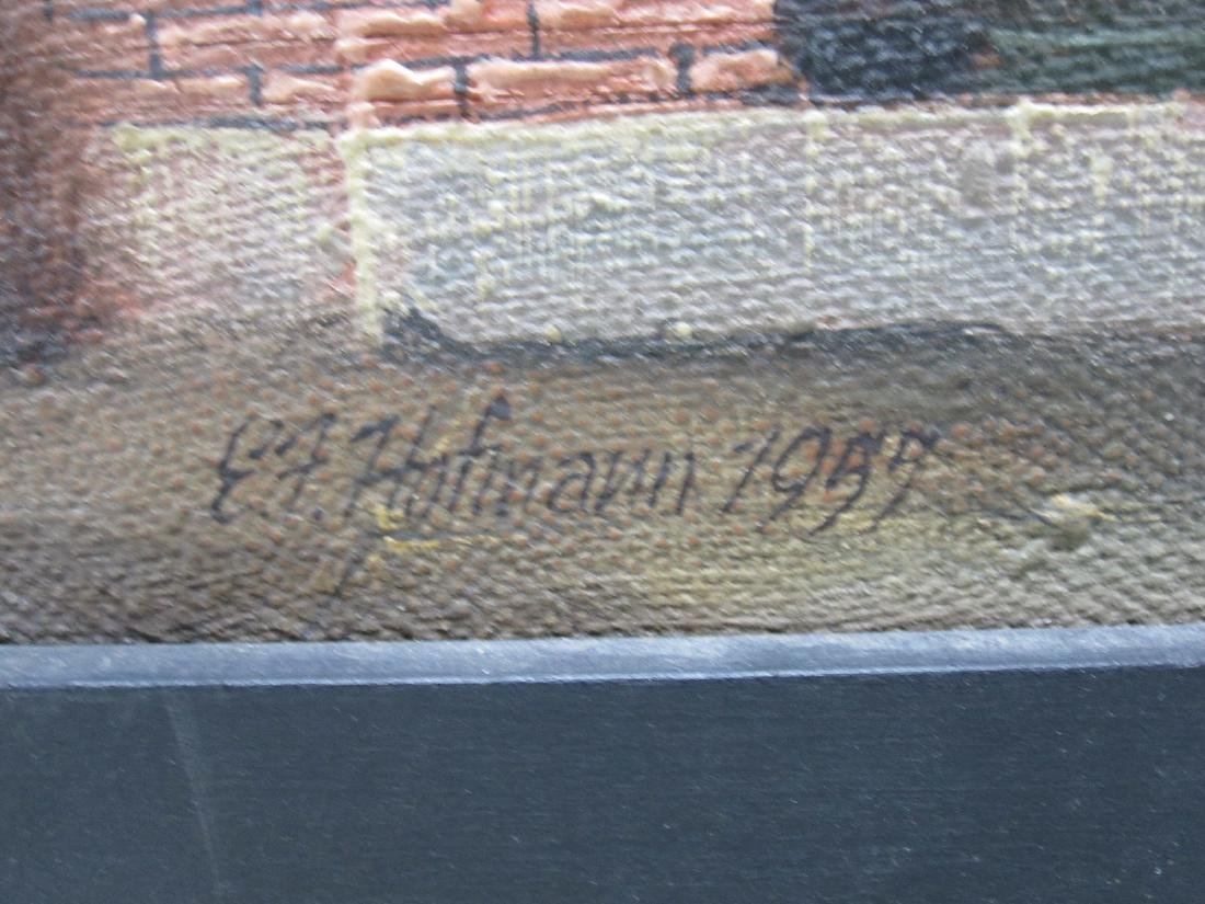 E.F. HOFMANN OIL ON LINEN OF URBAN LANDSCAPE - 4