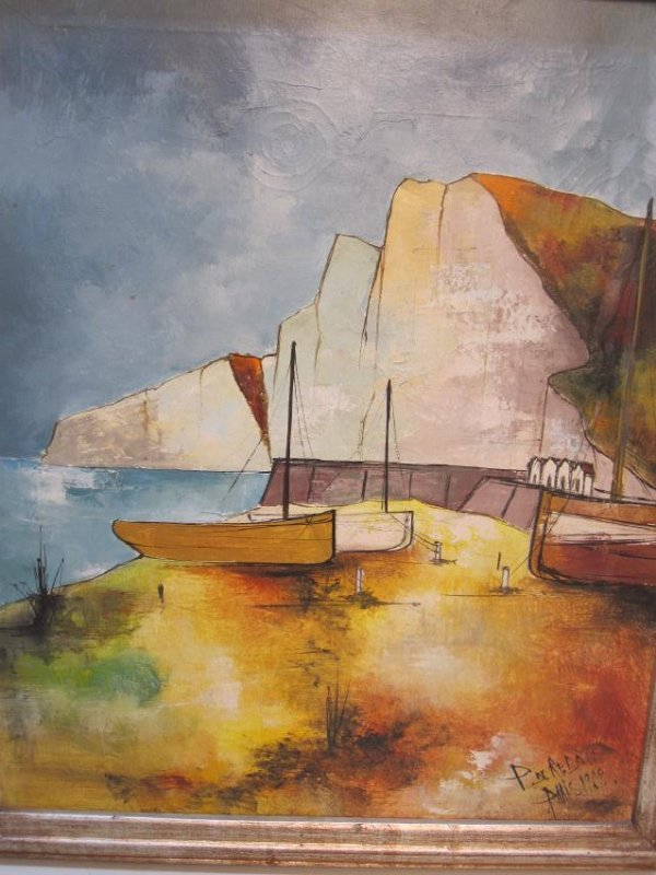 OIL ON CANVAS, TITLED DRY DOCK BY REDON - 2
