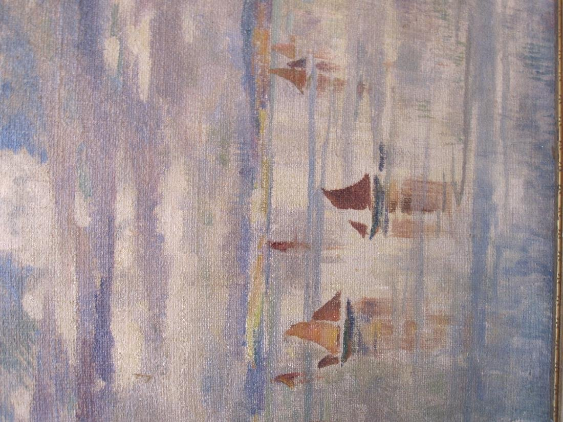 OIL ON BOAT OF SAILING BOATS ON LAKE - 2