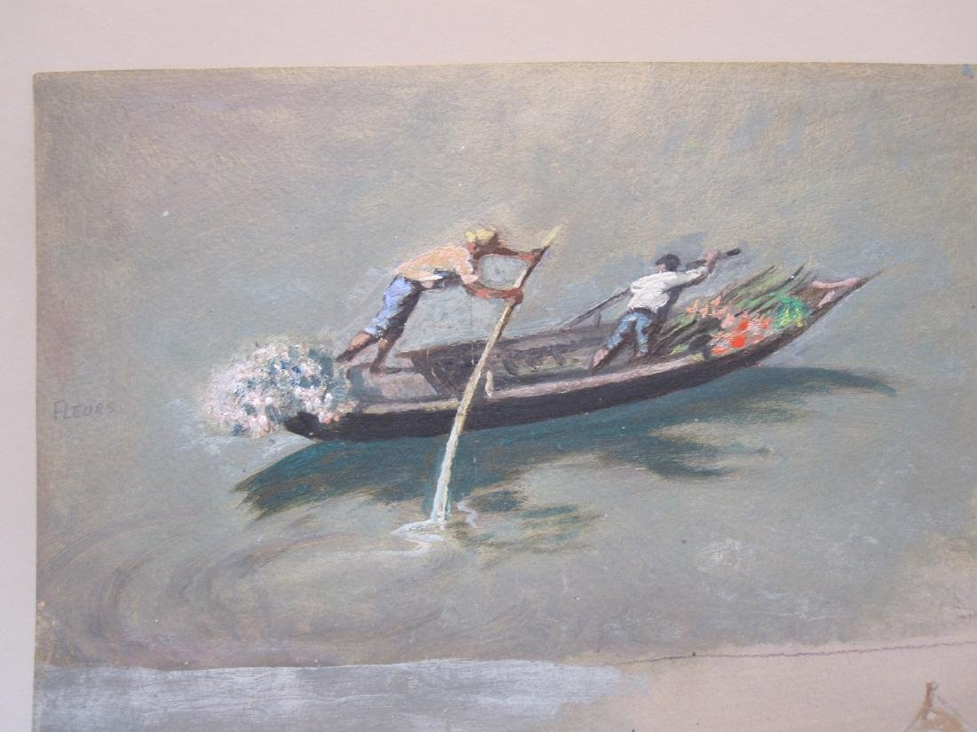 MIXED MEDIA STUDY OF FLOWER BOAT - 2