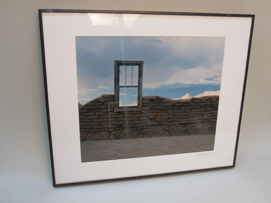 FRAMED COLORED PHOTO OF WINDOW AND RUINS