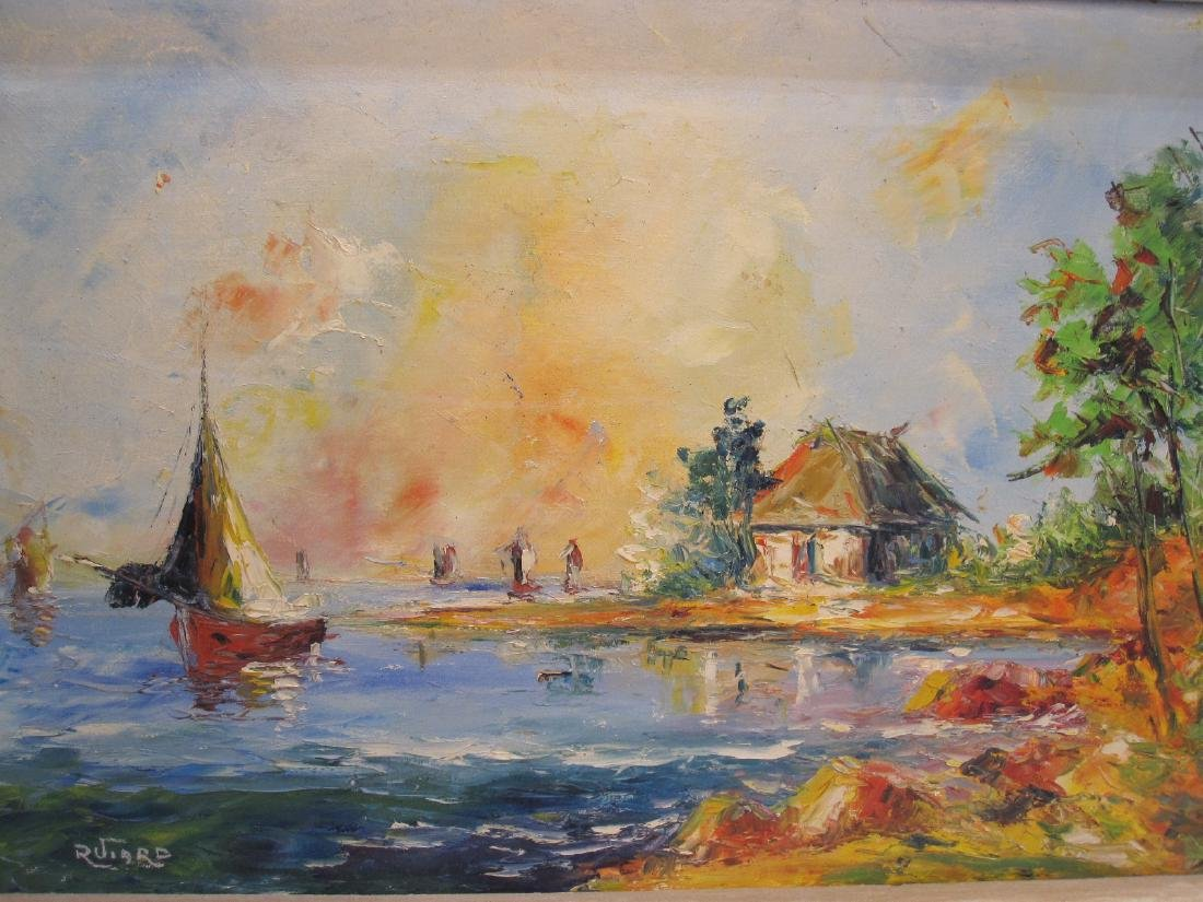 OIL ON CANVAS OF SAILING SHIPS - 2