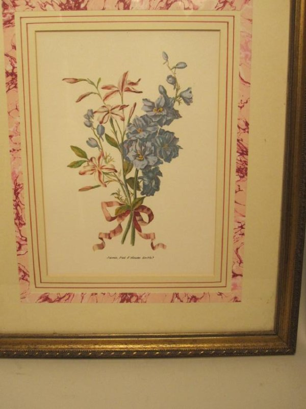 5 ASSORTED COLORED BOTANICAL PRINTS - 3