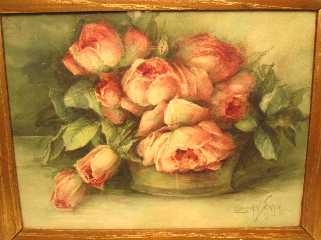 TWO WATERCOLOR STILL LIFE