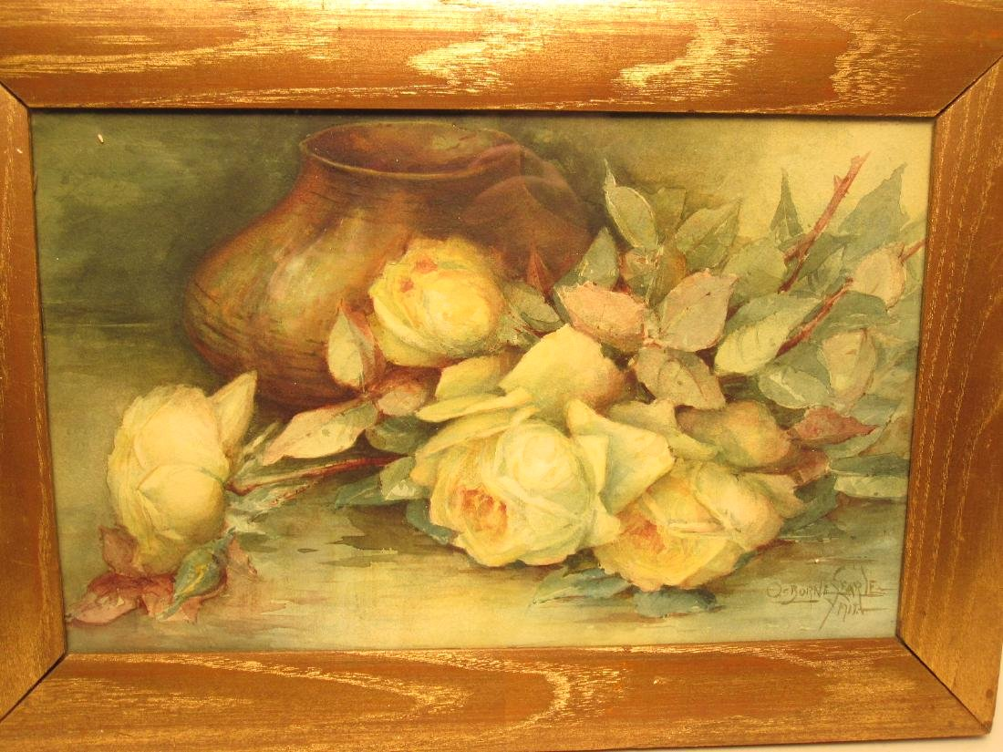 TWO WATERCOLOR STILL LIFE - 2