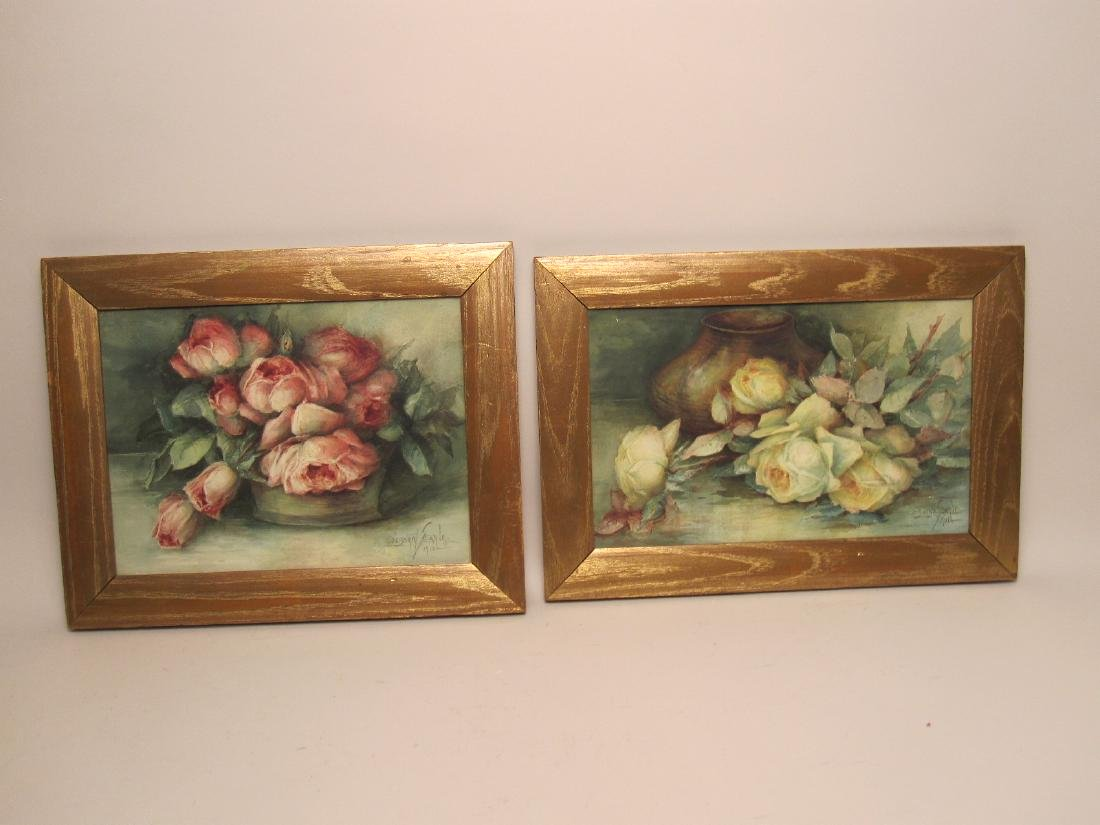 TWO WATERCOLOR STILL LIFE - 5