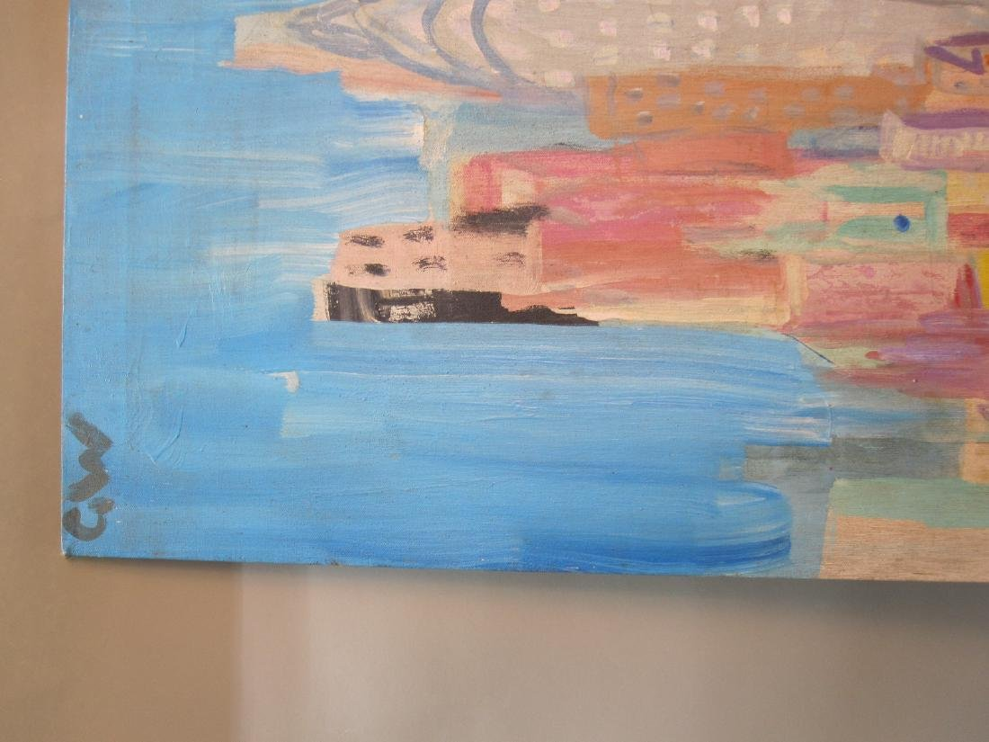 OIL ON CANVAS OF NEW YORK CITY LANDSCAPE - 2